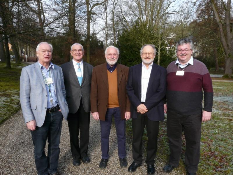 Vorstand der Ornithologischen Gesellschaft in Bayern e.V., Jürgen Weckerle, Dr. Helmut Rennau, Manfred Siering, Klaus Rachl und Robert Pfeifer