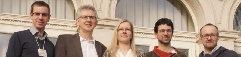 Der Vorstand der VSO; Jakob Reif, Jens Hering, Christina Scheinpflug, Dr. Markus Ritz und Dirk Tolkmitt