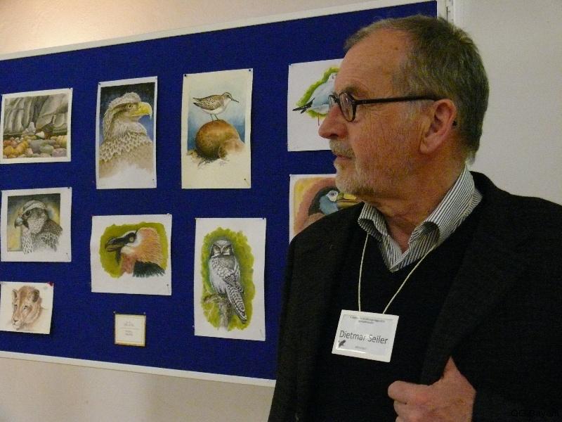 4. Bayerische Ornithologentage in Benediktbeuern, Grafiker Dietmar E. Seiler begleitet die Tagung mit einer Kunstausstellung