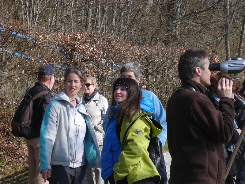 4. Bayerische Ornithologentage 2014 Exkursion zum Kochelsee, 2. v. l. Dr. Miriam Hansbauer