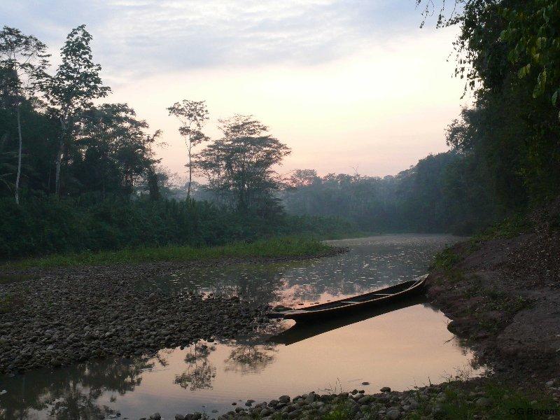 Morgenstimmung am Yuyapichis bei Niedrigwasser