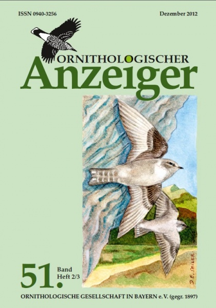 Ornithol. Anzeiger Band 51 Heft 2/3