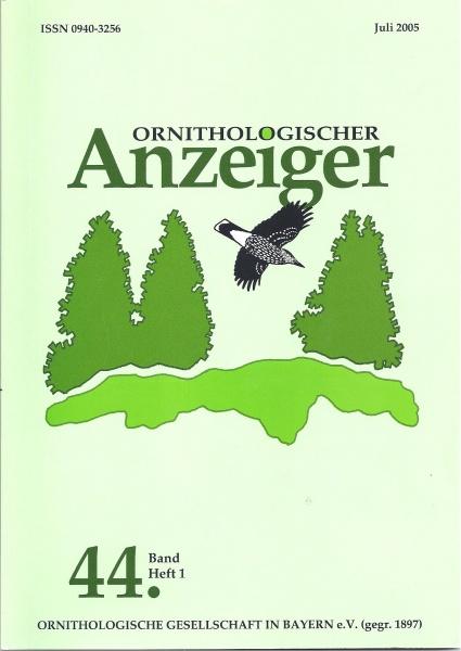 Ornithol. Anzeiger Band 44 Heft 1