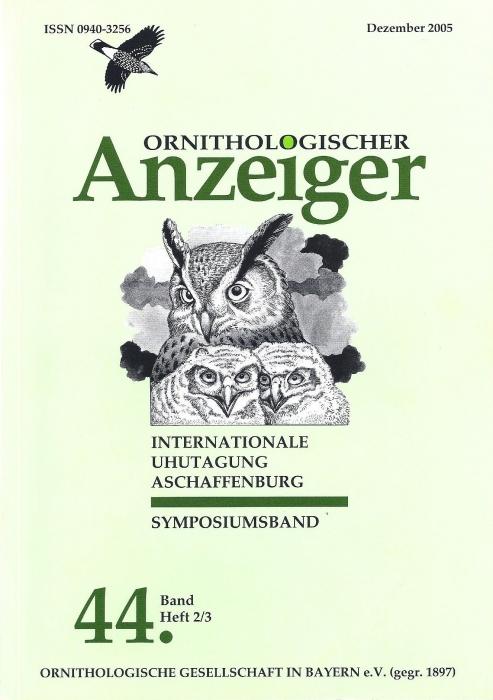 Ornithol. Anzeiger Band 44 Heft 2/3