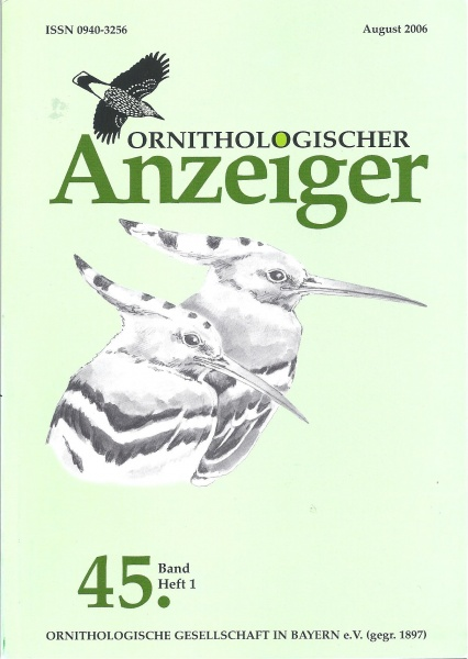 Ornithol. Anzeiger Band 45 Heft 1