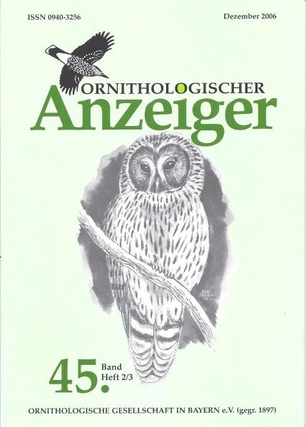Ornithol. Anzeiger Band 45 Heft 2/3