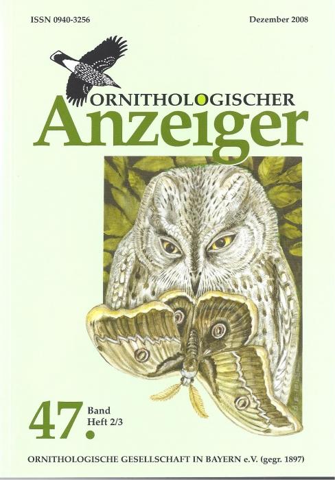 Ornithol. Anzeiger Band 47 Heft 2/3