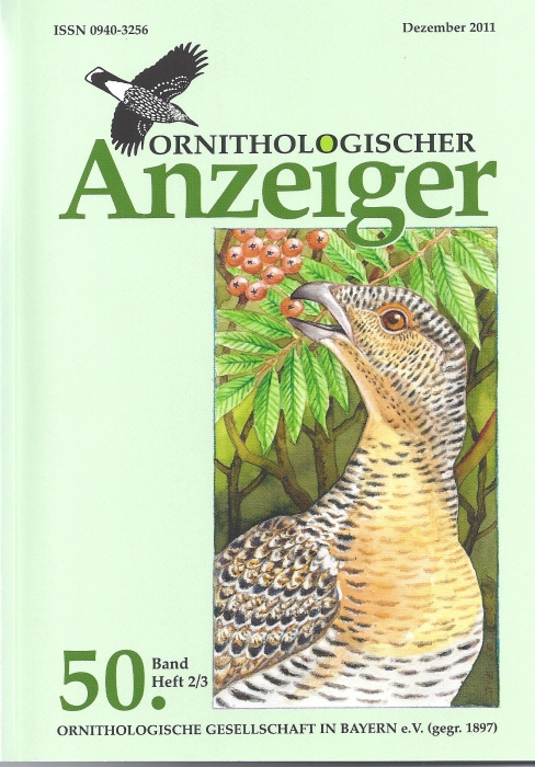 Ornithol. Anzeiger Band 50 Heft (2-3)