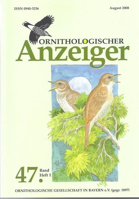 Ornithol. Anzeiger Band 47 Heft 1